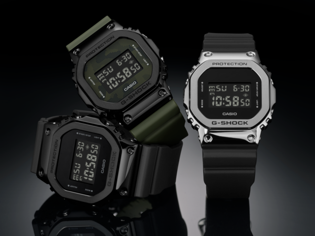 ICONIC G-SHOCK TIMEPIECES WITH STAINLESS STEEL BEZELS