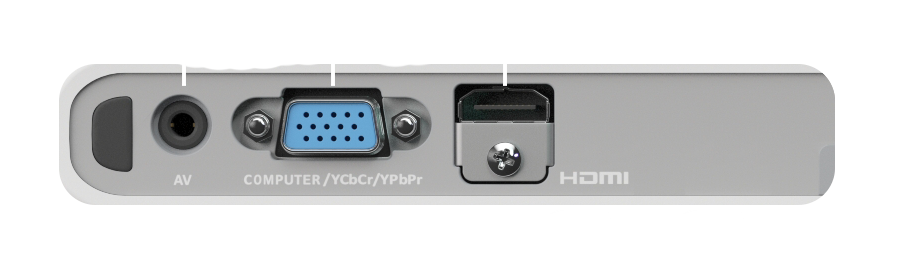 Inputs for the Slim Series Projector