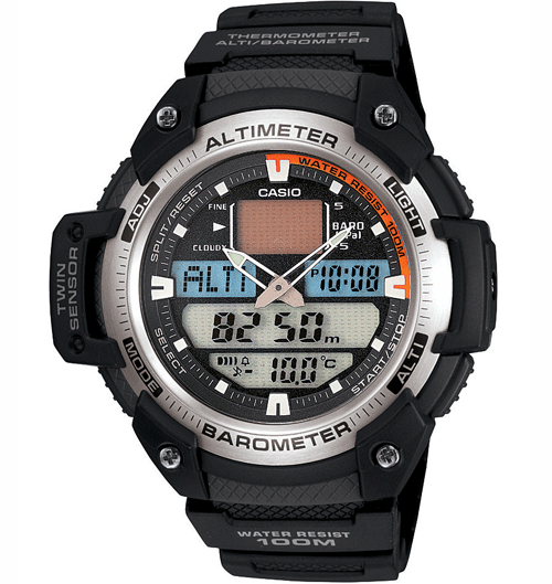 Casio sgw-400 sport watch altimeter barometer thermometer sgw400h.