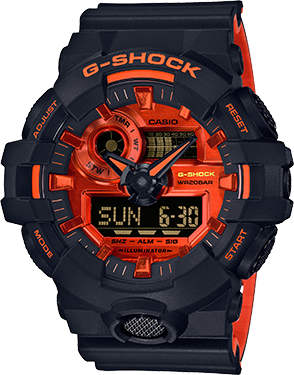 GA700BR-1A in Black/Orange