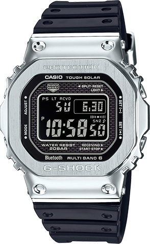 the latest 13d78 364a6 G-SHOCK Digital GMWB5000D-1 Men's Watch Silver