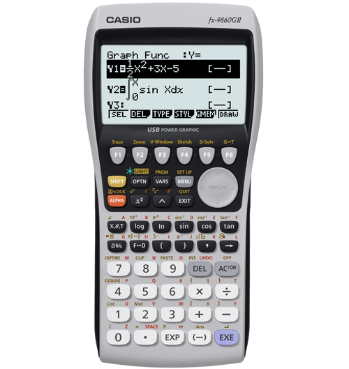 Graphing fx 9860gii casio education full image ccuart Choice Image