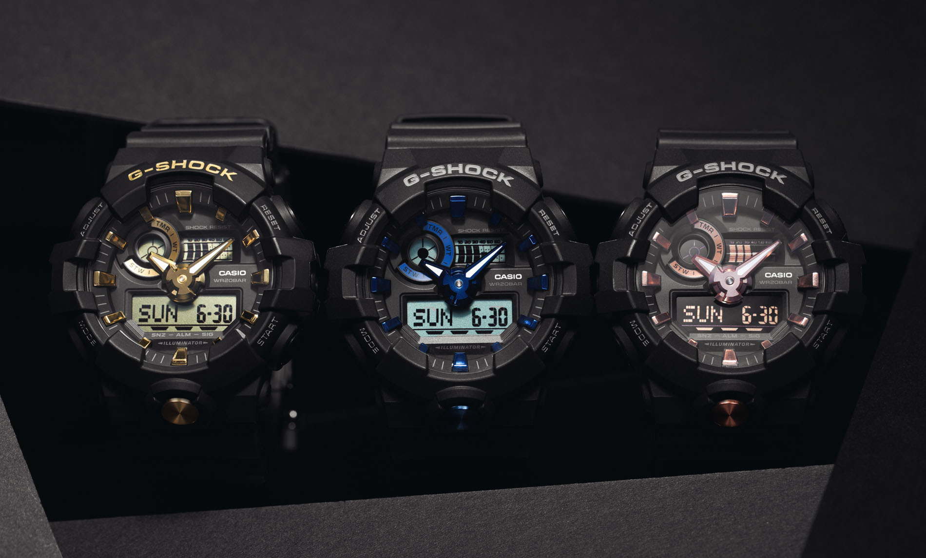 2cb46efbf194 G-SHOCK - Men s - Tough Shock-Resistant and Water Resistant Analog ...