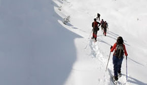 Extreme snowshoeing excursion destinations